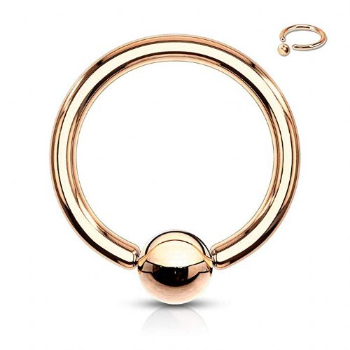 Rose Gold Plated Ball Closure Ring